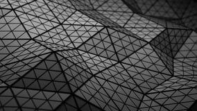Η διαστρεβλωμένη μαύρη χαμηλή πολυ μορφή τρισδιάστατη δίνει την απεικόνιση απεικόνιση αποθεμάτων