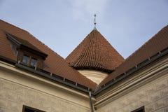 Η διαταγή Castle Livonia χτίστηκε στο μέσο του 15ου αιώνα Μπαούσκα Λετονία το φθινόπωρο Στοκ φωτογραφίες με δικαίωμα ελεύθερης χρήσης