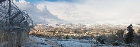Η Δυτική Όχθη το χειμώνα Στοκ Φωτογραφία