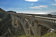 Η δύσκολη γέφυρα κολπίσκου Στοκ Εικόνες