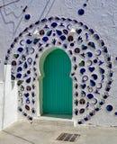 Η είσοδος μιας πόρτας σε Asilah, Μαρόκο στοκ εικόνες με δικαίωμα ελεύθερης χρήσης