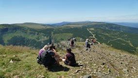 Η είσοδος στην κορυφή του βουνού ` Sniezka ` στοκ φωτογραφίες με δικαίωμα ελεύθερης χρήσης