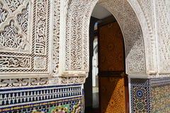 Η είσοδος των μπελ Abbes Zawiya Sidi στοκ εικόνες