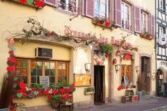 Η είσοδος στο εστιατόριο στη Γαλλία Στοκ Φωτογραφίες