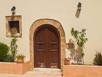 Η είσοδος στο ελληνικό σπίτι Στοκ Εικόνα