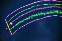 Η εβδομάδα αέρα της Αθήνας που πετά παρουσιάζει Στοκ Εικόνα