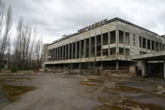 Η εγκαταλειμμένη πόλη Pripyat, Τσέρνομπιλ Στοκ εικόνα με δικαίωμα ελεύθερης χρήσης