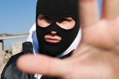η εγκληματική χειρονομί&alph στοκ εικόνα