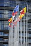 η ΕΕ σημαιοστολίζει το μπροστινό Κοινοβούλιο Στοκ Εικόνα
