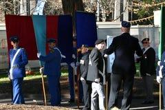 Η εθνική επιφύλαξη αναγκάζει την παρέλαση ημέρας στο μνημείο ANZAC Στοκ φωτογραφία με δικαίωμα ελεύθερης χρήσης