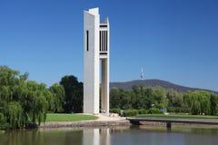 Η εθνική κωδωνοστοιχία στην Καμπέρρα, Αυστραλία στοκ φωτογραφία με δικαίωμα ελεύθερης χρήσης