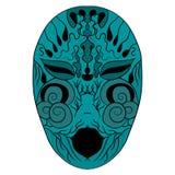 Η εθνική μάσκα είναι ένα φοβερό πρόσωπο επίσης corel σύρετε το διάνυσμα απεικόνισης Σχεδιασμός με το χέρι απεικόνιση αποθεμάτων