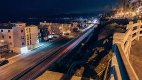 Η εθνική οδός Pacific Coast τη νύχτα απόθεμα βίντεο