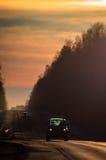 Η εθνική οδός στη Ρωσία Στοκ Εικόνες