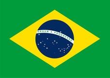 Η εθνική σημαία της Βραζιλίας Διανυσματικό σχέδιο, έμβλημα της Βραζιλίας Επίπεδα πρότυπα, στοιχείο σχεδίου για την τυπωμένη ύλη,  Στοκ Εικόνα