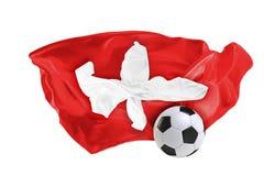 Η εθνική σημαία της Ελβετίας Παγκόσμιο Κύπελλο της FIFA Ρωσία 2018 Στοκ φωτογραφία με δικαίωμα ελεύθερης χρήσης