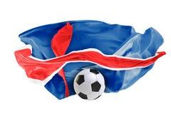 Η εθνική σημαία της Ισλανδίας Παγκόσμιο Κύπελλο της FIFA Ρωσία 2018 Στοκ Φωτογραφία