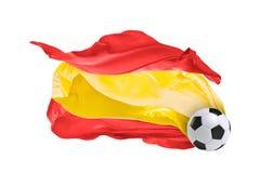 Η εθνική σημαία της Ισπανίας Παγκόσμιο Κύπελλο της FIFA Ρωσία 2018 Στοκ εικόνα με δικαίωμα ελεύθερης χρήσης