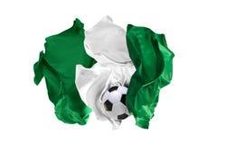 Η εθνική σημαία της Νιγηρίας Παγκόσμιο Κύπελλο της FIFA Ρωσία 2018 Στοκ φωτογραφία με δικαίωμα ελεύθερης χρήσης