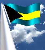 Η εθνική σημαία της χώρας ISLANDSBahamas ΜΑΓΕΙΡΩΝ στις Καραϊβικές Θάλασσες απεικόνιση αποθεμάτων