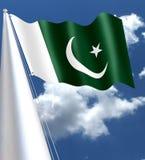 Η εθνική σημαία του Πακιστάν υιοθετήθηκε με παρούσα μορφή της κατά τη διάρκεια μιας συνεδρίασης της Συντακτικής Επιτροπής στις 11 Στοκ Φωτογραφίες
