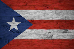Η εθνική σημαία του Πουέρτο Ρίκο χρωμάτισε το παλαιό δρύινο ξύλο Στοκ φωτογραφία με δικαίωμα ελεύθερης χρήσης
