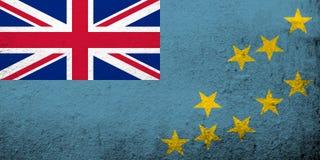 Η εθνική σημαία του Τουβαλού νησιών της Ellice Ανασκόπηση Grunge απεικόνιση αποθεμάτων