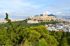 Η εικονική παράσταση πόλης της Αθήνας Στοκ Εικόνες