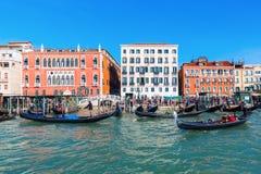 Η εικονική παράσταση πόλης της Βενετίας, Ιταλία, είδε από τη λιμνοθάλασσα Στοκ Εικόνα