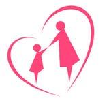 Η εικόνα της μητρότητας και της παιδικής ηλικίας Στοκ Εικόνες
