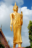 Η εικόνα του Βούδα στο ναό Στοκ Εικόνα