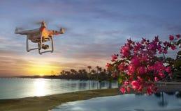 Η εικόνα του Dji εμπνέει 1 UAV κηφήνων quadcopte Στοκ Εικόνες