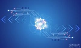 Η εικόνα υποβάθρου παρουσιάζει αφηρημένη έννοια της καινοτομίας και η τεχνολογία μπορεί να εφαρμοστεί στην επιχείρησή σας Στοκ Εικόνα