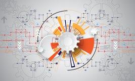 Η εικόνα υποβάθρου παρουσιάζει αφηρημένη έννοια της καινοτομίας και η τεχνολογία μπορεί να εφαρμοστεί στην επιχείρησή σας Στοκ Φωτογραφία
