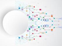 Η εικόνα υποβάθρου παρουσιάζει αφηρημένη έννοια της καινοτομίας και η τεχνολογία μπορεί να εφαρμοστεί στην επιχείρησή σας Στοκ Εικόνες