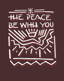 Η ειρήνη είναι με σας β Στοκ φωτογραφία με δικαίωμα ελεύθερης χρήσης