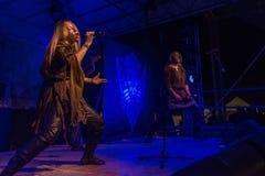 Η ειδική 15η επέτειος Arkona παρουσιάζει ζωντανό στο φεστιβάλ Insubria Στοκ εικόνα με δικαίωμα ελεύθερης χρήσης