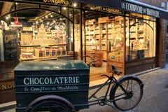 Η ειδικότητα chocolaterie ψωνίζει, LE Comptoir de Mathilde, Παρίσι, Γαλλία, το 2016 Στοκ φωτογραφίες με δικαίωμα ελεύθερης χρήσης