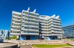 Η δεκαετία του '70-δεκαετία του '80 κτιρίων γραφείων στην περιοχή Meriadeck του Μπορντώ, Γαλλία Στοκ Εικόνα
