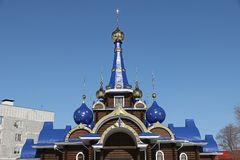 η εκκλησία διασχίζει το&up Ναός Στοκ Εικόνα