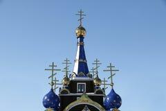 η εκκλησία διασχίζει το&up Ναός Στοκ Φωτογραφία
