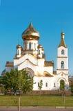 η εκκλησία καλύπτει το χρυσό λευκό δια θόλου Στοκ εικόνες με δικαίωμα ελεύθερης χρήσης