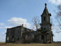 η εκκλησία κατέστρεψε ο&r Στοκ εικόνα με δικαίωμα ελεύθερης χρήσης
