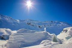 Η εκκλησία πάγου στη λίμνη Balea Στοκ φωτογραφίες με δικαίωμα ελεύθερης χρήσης