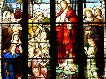 η εκκλησία, παράθυρο, το γυαλί, που λεκίασαν, λεκίασε το γυαλί, θρησκεία, καθεδρικός ναός, Mary, θρησκευτική, Χριστός, αρχιτεκτον στοκ φωτογραφίες