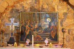 Η εκκλησία συναγωγών είναι μια μικρή χριστιανική εκκλησία στην καρδιά της Ναζαρέτ, Ισραήλ στοκ εικόνες με δικαίωμα ελεύθερης χρήσης