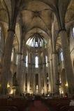 η εκκλησία της Βαρκελώνης del γοτθική χαλά το santa της Μαρίας Στοκ Εικόνες