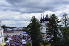 Η εκκλησία της Ρωσίας, της άσπρης πέτρας, του ορθόδοξου χριστιανισμού, Στοκ Εικόνες