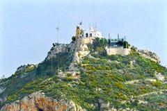 Η εκκλησία τοποθετεί Lycabettus Αθήνα Ελλάδα Στοκ Φωτογραφίες