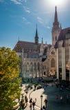 Η εκκλησία του Matthias στη Βουδαπέστη στοκ εικόνες